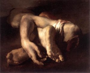 Jean-Louis André Théodore Géricault - の研究 フィーと そして ハンズ
