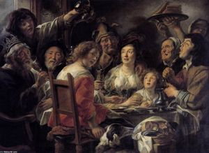 Jacob Jordaens - ザー 王 飲料