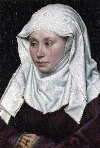Robert Campin (Master Of Flemalle) - の肖像画 女性