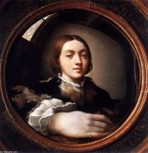 Parmigianino - Self-Portrait には 凸面 ミラー