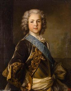 Jean Louis Tocqué - ポートレート of Louis , グランド Dauphin of France