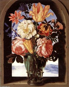 Ambrosius Bosschaert The Elder - 花束 の 花