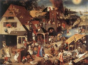 Pieter Bruegel The Younger - オランダの諺