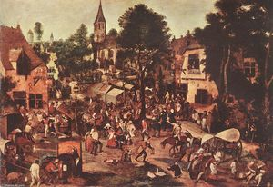 Pieter Bruegel The Younger - 村 ごちそう