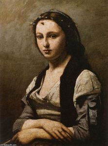 Jean Baptiste Camille Corot - ザー 女性 の `pearl