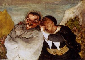Honoré Daumier - クリスピンとScapin