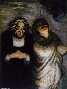 Honoré Daumier - からのシーン a コメディー