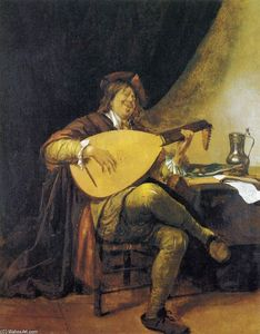 Jan Steen - Self-Portrait as リュート奏者