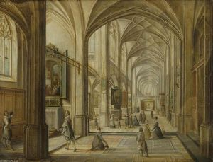 Hendrick Van The Younger Steenwyck - インテリア of a ゴシック Church