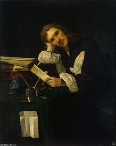 Michael Sweerts - の肖像画 若い man