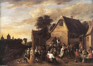 David The Younger Teniers - フラマンKermess