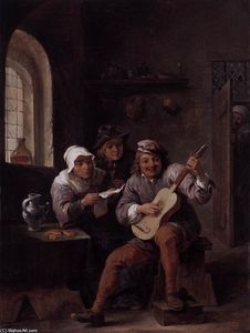 David The Younger Teniers - 音楽を作る農民