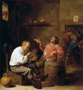 David The Younger Teniers - smokers` には インテリア