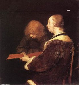 Gerard Ter Borch - 読書レッスン