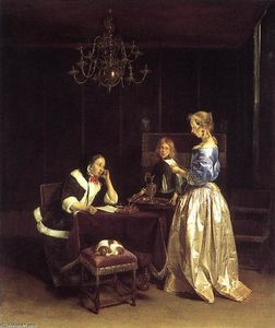 Gerard Ter Borch - 女性 Reading a 文字