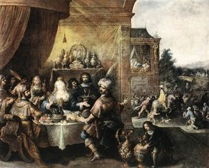 Frans Francken The Younger - エスターの饗宴