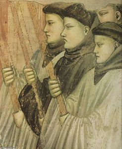 Giotto Di Bondone - からのシーン 生活 of 聖人 Francis : 4 . 死 と Ascension of セント Francis ( 詳細 ) ( 12 )
