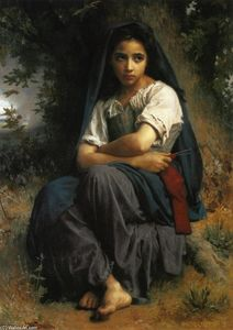 William Adolphe Bouguereau - リトル編み機