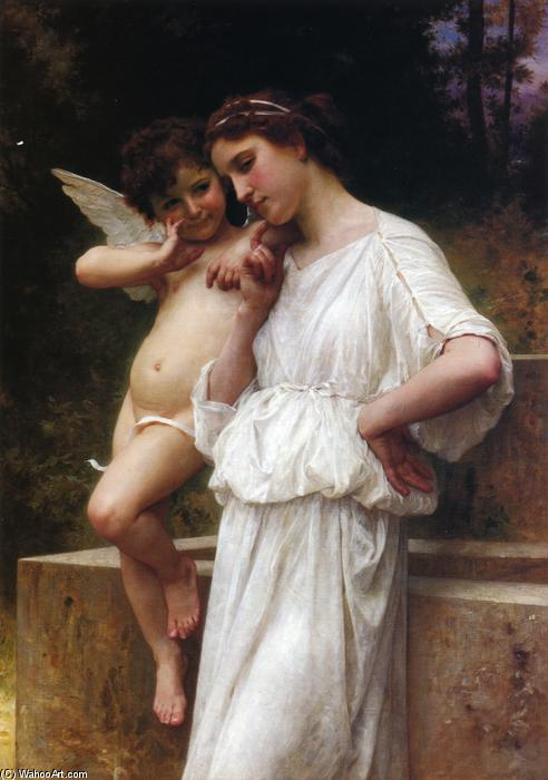 愛のScerets, 1896 バイ William Adolphe Bouguereau (1825-1905, France) | 手作りの絵画 | WahooArt.com