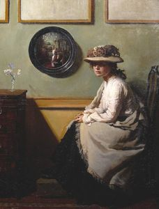 順序 ファインアートプリント ザー ミラー, 1900 バイ William Newenham Montague Orpen (1878-1931, Ireland) | WahooArt.com | 順序 質感のプリント ザー ミラー, 1900 バイ William Newenham Montague Orpen (1878-1931, Ireland) | WahooArt.com