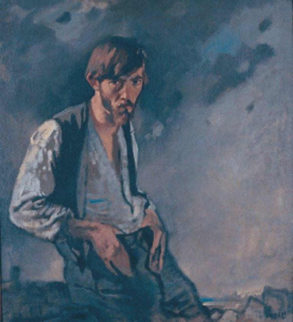 マン の ザー 西 バイ William Newenham Montague Orpen (1878-1931, Ireland)