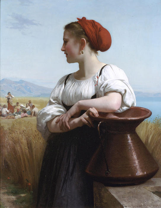 Moissoneuse, キャンバスに油彩 バイ William Adolphe Bouguereau (1825-1905, France)