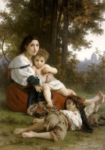 William Adolphe Bouguereau - 母 と 子供