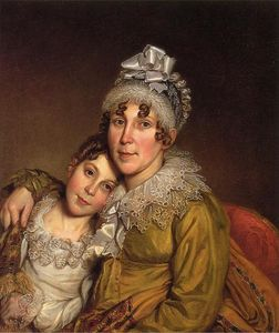 Charles Willson Peale - 母は彼女のConvalescant娘を愛撫します