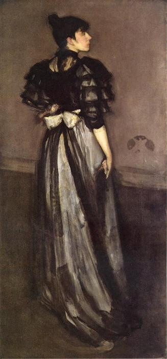 母 of Pearl そして、銀 : ザー Andalsiian, 1888 バイ James Abbott Mcneill Whistler (1834-1903, United States) | WahooArt.com