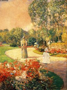 Frederick Childe Hassam - モンソー公園、パリ