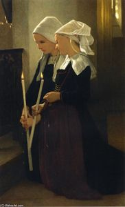 William Adolphe Bouguereau - サンタンヌ-d Aurayで祈り
