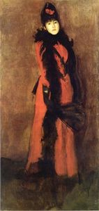 James Abbott Mcneill Whistler - 赤と黒 ザー ファン
