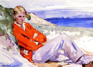 Francis Campbell Boileau Cadell - 赤 コート
