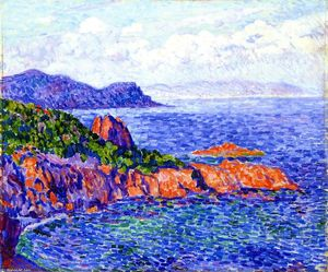 Theo Van Rysselberghe - 赤 岩 ルで Trayes