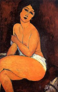 Amedeo Modigliani - ヌード着席