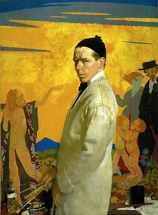 セルフポートレート, 1913 バイ William Newenham Montague Orpen (1878-1931, Ireland)