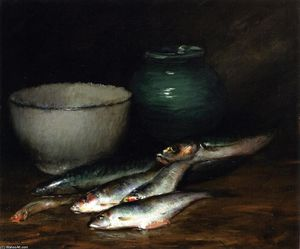 William Merritt Chase - 魚の小杭