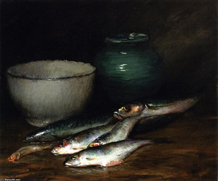 魚の小杭, 1906 バイ William Merritt Chase (1849-1916, United States) | 絵画の複製 | WahooArt.com