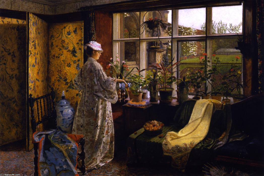 「春」 バイ John Atkinson Grimshaw (1836-1893, United Kingdom) | 油絵 John Atkinson Grimshaw | WahooArt.com