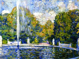 Theo Van Rysselberghe - 以下のための研究 'Fountain'