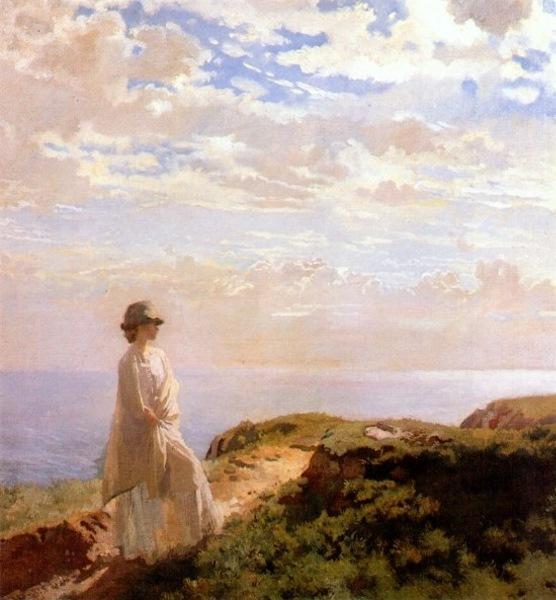 A 夏の午後 バイ William Newenham Montague Orpen (1878-1931, Ireland)