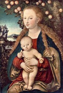 Lucas Cranach The Elder - 処​​女と子供