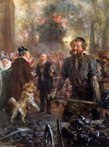 Adolph Menzel - フォージ訪問