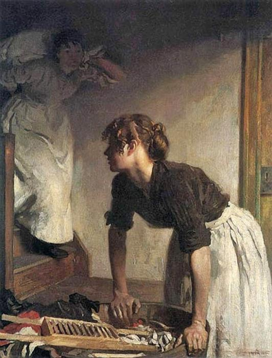 ウォッシュ ハウス バイ William Newenham Montague Orpen (1878-1931, Ireland)