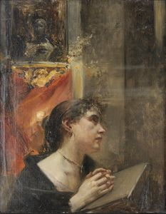 Eduard Veith - デア教会、Ruckseitiger NachlassstempelでAndacht