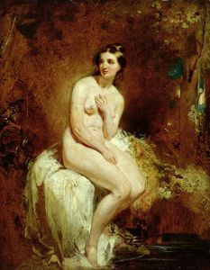 William Etty - ザー Bather_2