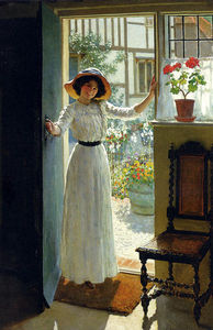 William Henry Margetson - で コテージ ドア