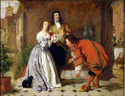からのシーン Moliere's 'the Would-be Gentleman' , バイ William Powell Frith (1819-1909, United Kingdom)