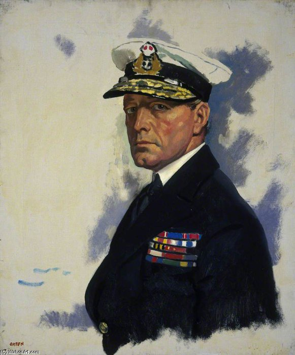 デビッド ビーティ  バイ William Newenham Montague Orpen (1878-1931, Ireland)