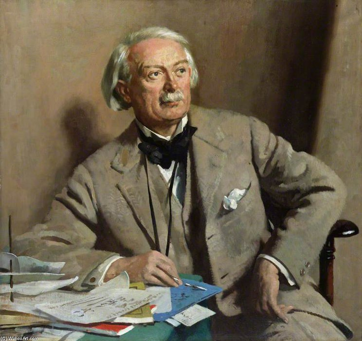 デビッド ロイド ジョージ , 1st 伯爵 Lloyd-george バイ William Newenham Montague Orpen (1878-1931, Ireland)